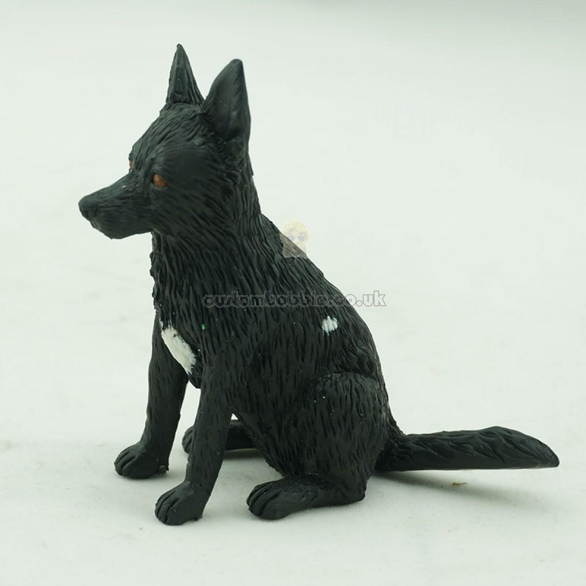 customised black german shepherd bobblehead dog