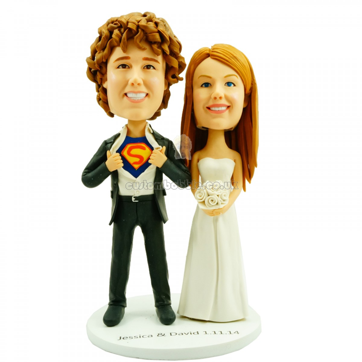 Bobblehead Wedding Cake Toppers