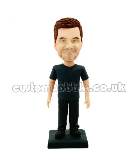 casual man custom bobblehead doll