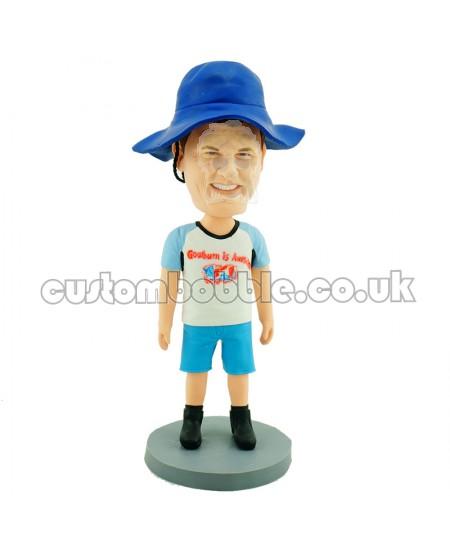 casual man personalised bobblehead
