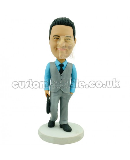 custom bobblehead business man in weskit