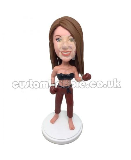 custom boxing girl bobblehead