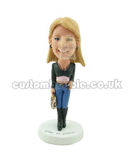 custom casual female bobblehead