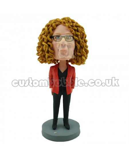 custom casual female bobblehead doll
