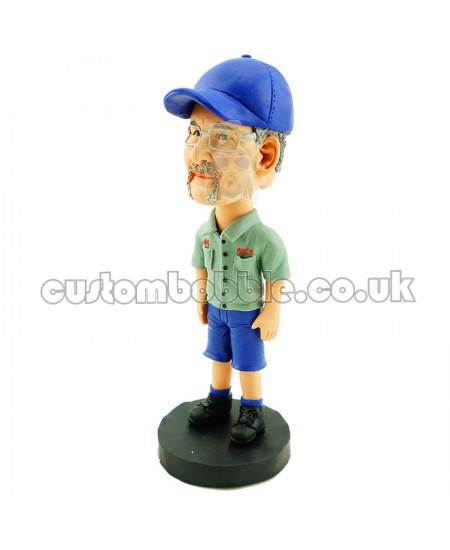 custom casual old man bobblehead
