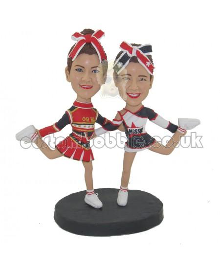 custom cheerleaders couple bobblehead