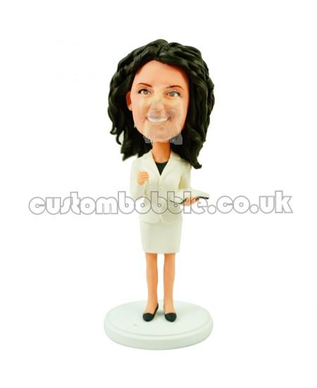 custom female secretary bobblehead