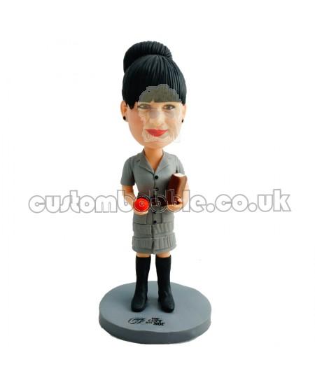 custom female teacher bobblehead