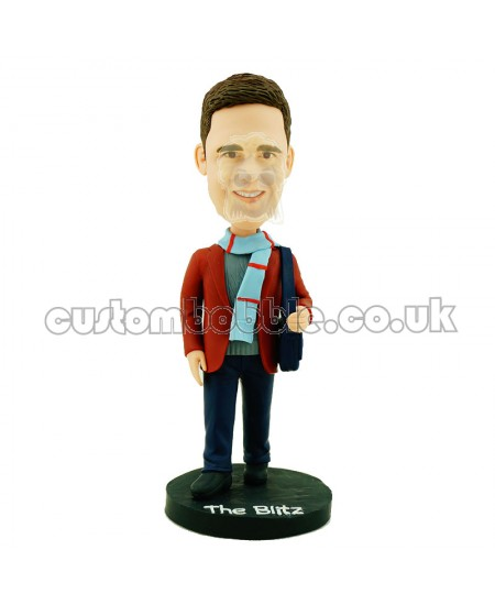 custom wear scarves casual man bobblehead