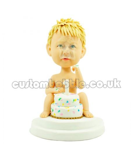 customised 1 year birthday kid bobblehead