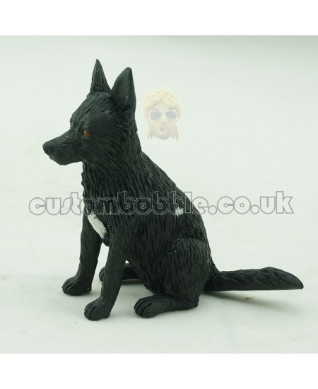 customised black german shepherd bobblehead dog