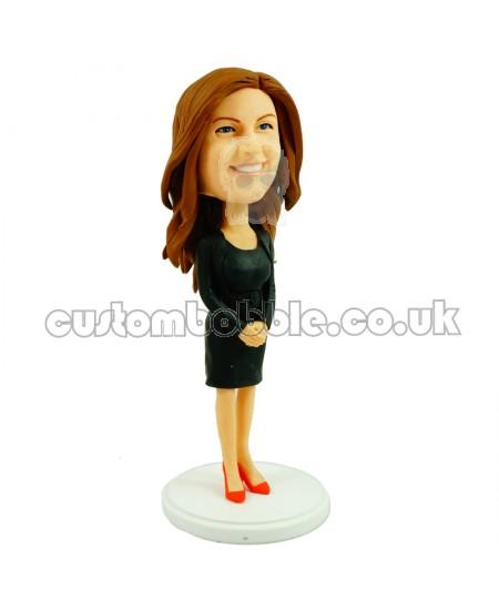 customised bobblehead office lady