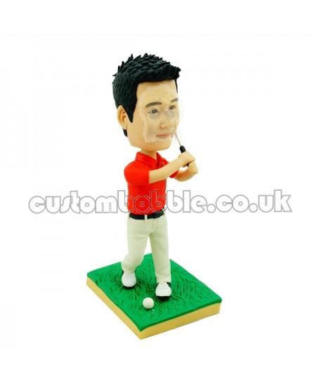 customised golfing bobblehead doll