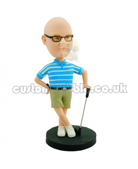 customised golfing bobblehead