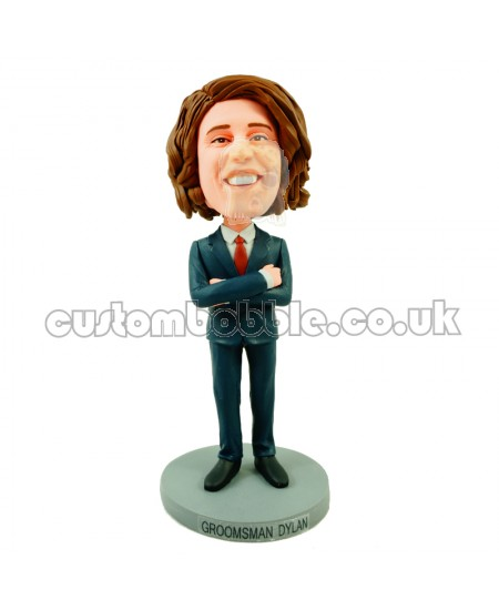 customised groomsman bobble head doll