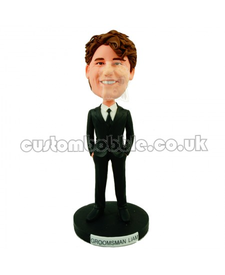customised groomsman bobblehead doll