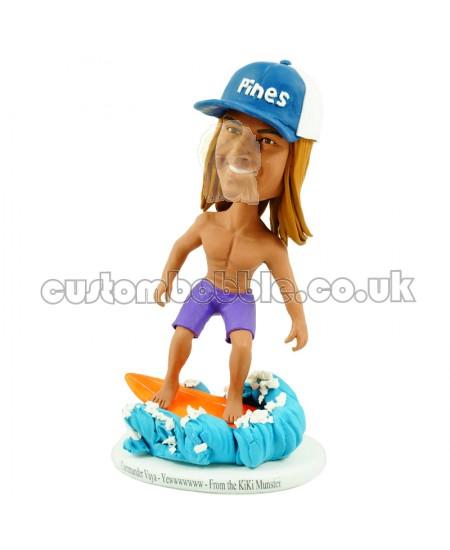 customised surfing male bobblehead