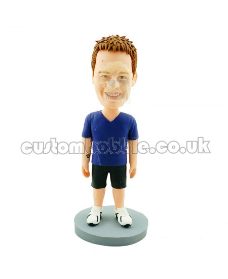 customised v neck mazarine casual man bobblehead