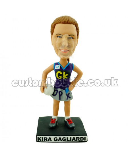 customised volleyball girl bobblehead