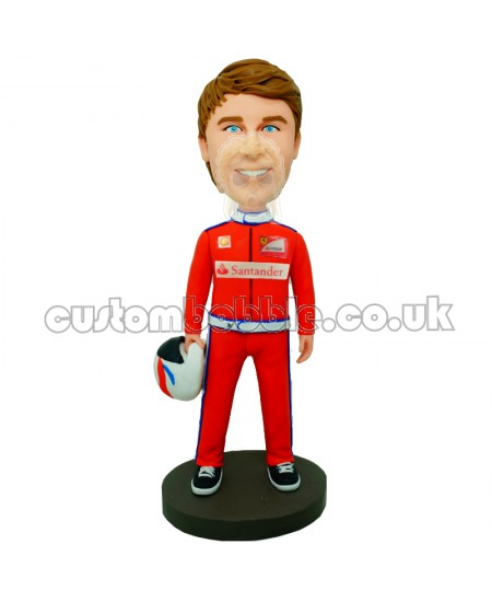 ferrari racing driver personalised bobblehead