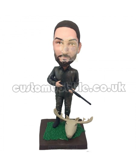 hunting man personalised bobblehead