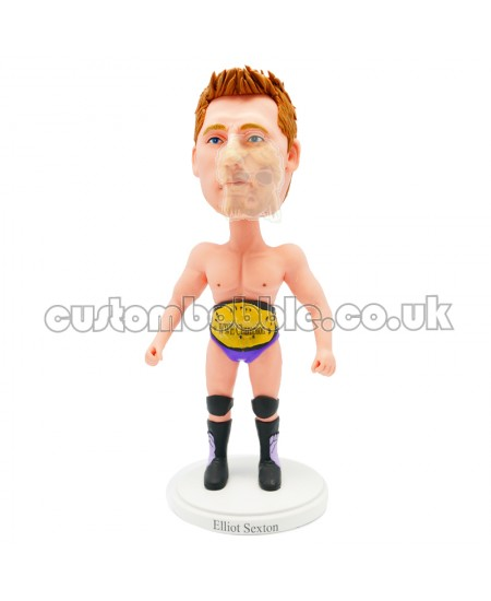 personalised WWE chamption bobblehead