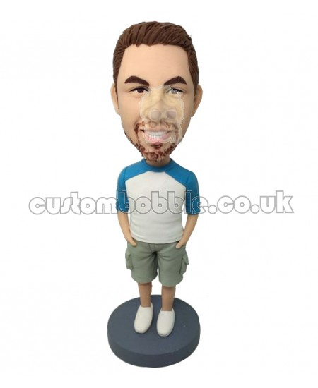 personalised casual male bobblehead