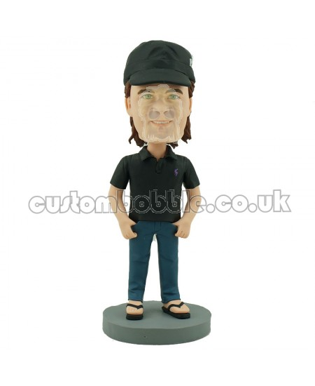 personalised casual man bobble head