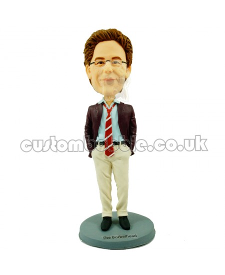 personalised casual man bobblehead