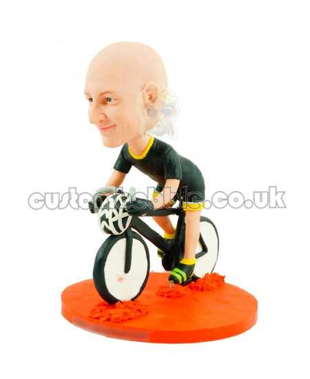 personalised cyclist bobblehead doll