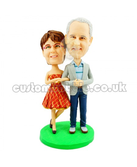 personalised old couple anniversary bobblehead