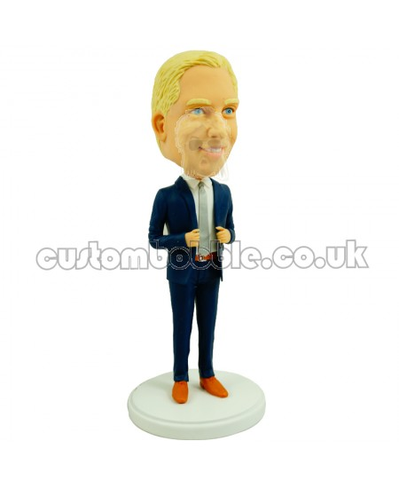 personalised smart male colleague bobblehead
