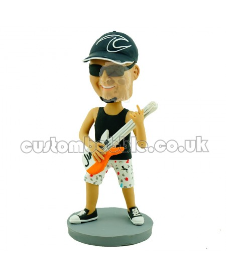 playing guitar personalised bobblehead doll