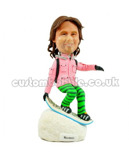 skier personalised bobblehead
