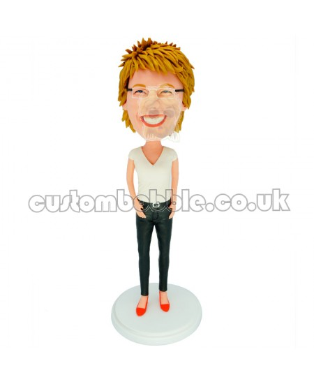 slim office lady personalised bobblehead