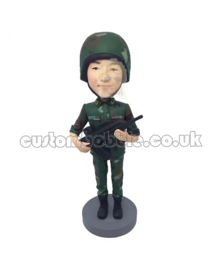 soldier personalised bobblehead