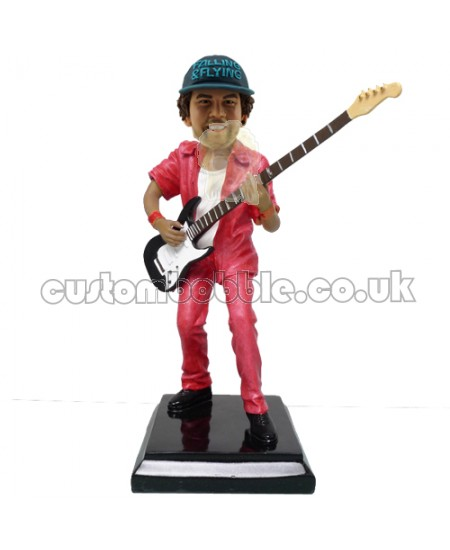 customised electric guitar player bobblehead