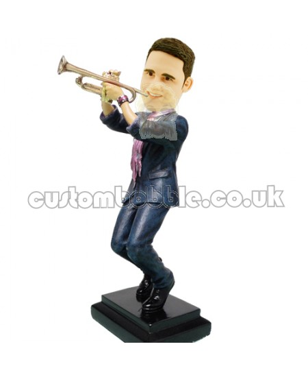 customised trumpeter bobblehead