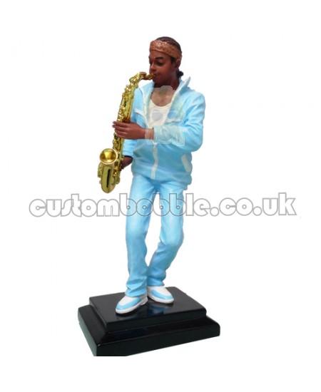 custom saxophone player bobblehead
