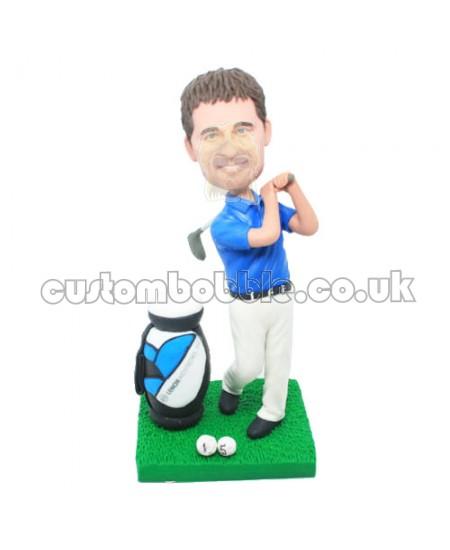 custom golfer bobblehead doll