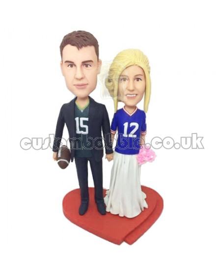 customised fans couple bobbleheads