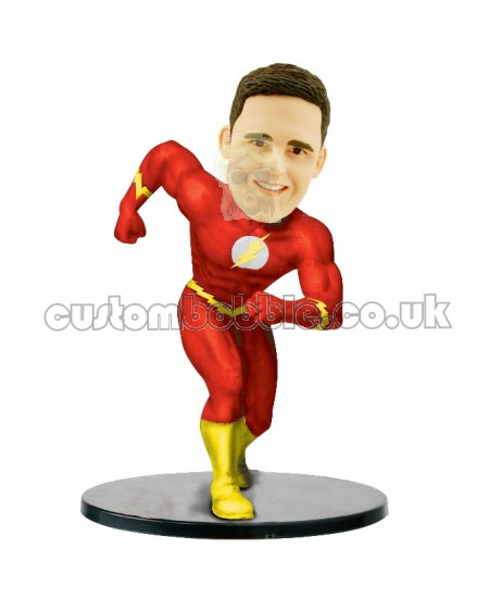 flash man personalized bobblehead