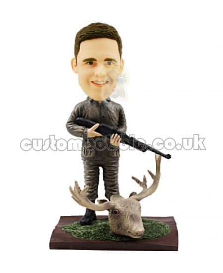 personalized moose hunter bobblehead