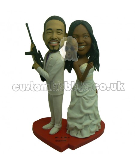 weapon wedding bobbleheads