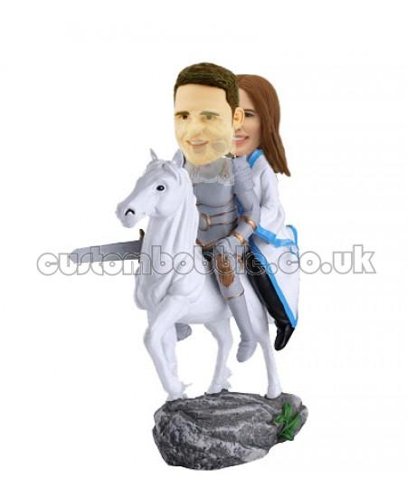 custom bobbleheads knight couple