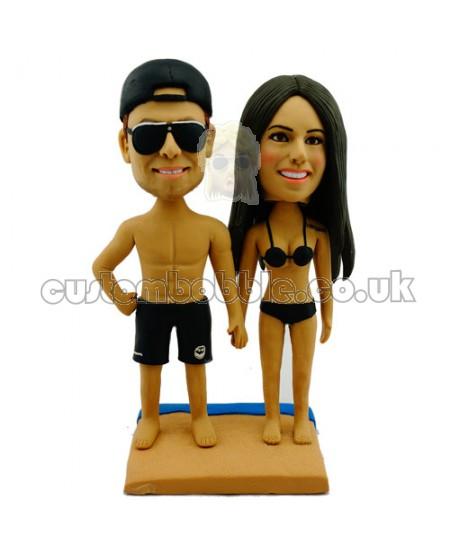 custom sandbeach bikini couple bobblehead
