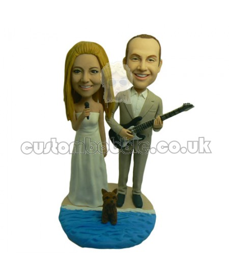 Singer and Guitarist Couple Bobbleheads