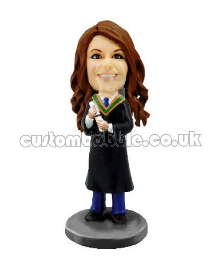 female graduation custom bobble head