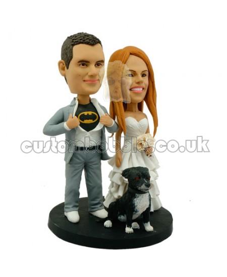 personalised batman wedding bobblehead a dog