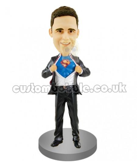 custom superman groomsman bobblehead